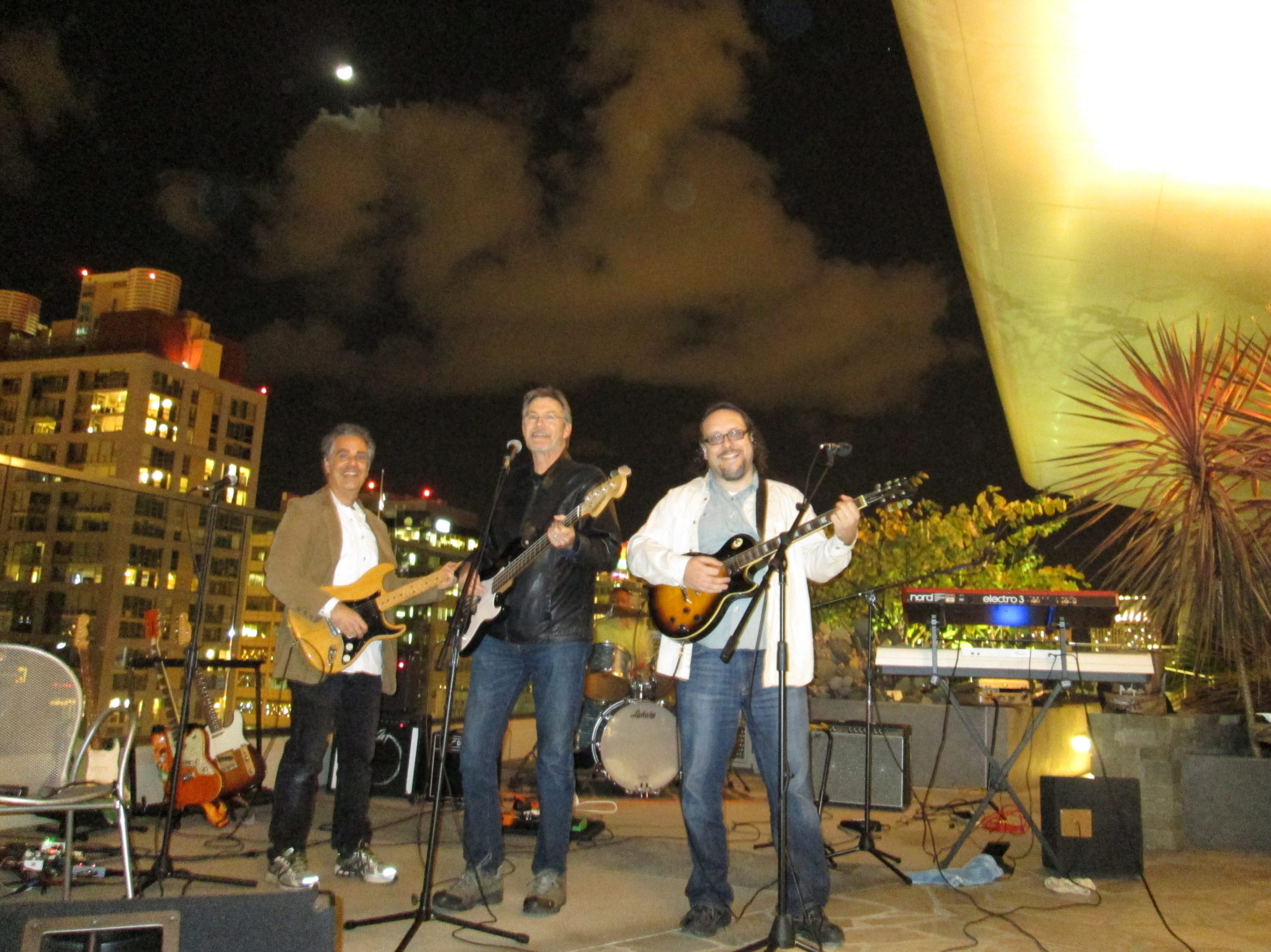 The Innocent Bystanders play in downtown San Diego