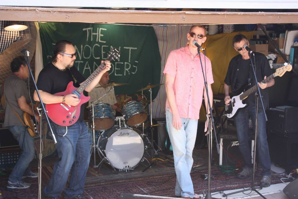San Diego's Innocent Bystanders play in the Kensington Section of San Diego