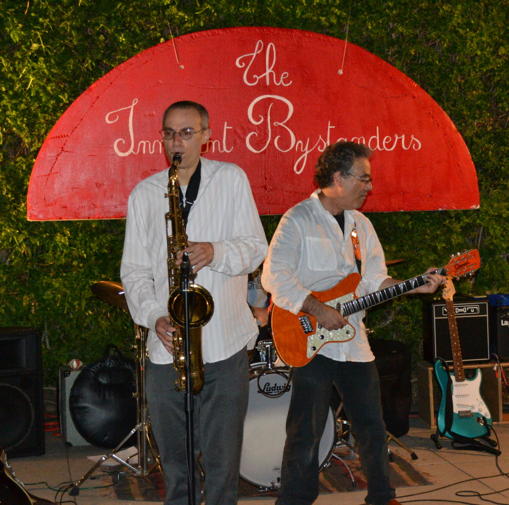 Innocent Bystanders first gig with sax