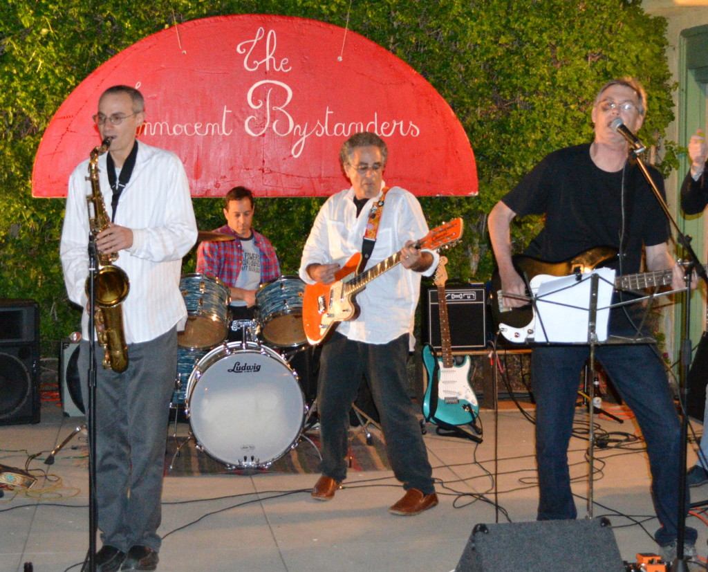 The Innocent Bystanders play live music a backyard party in the Kensington Section of San Diego.
