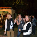 Dancing to the Innocent Bystanders playing live rock, soul, and jazz music at a backyard party.