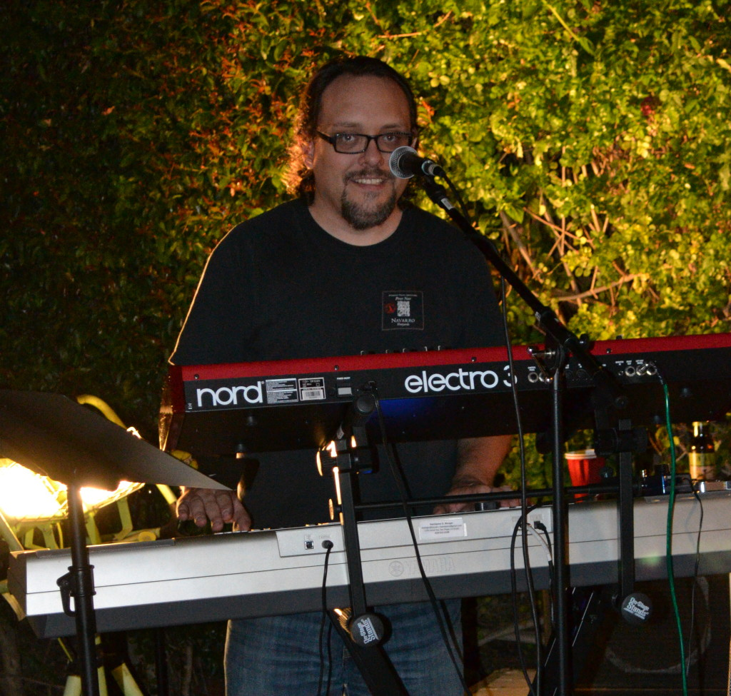 The Innocent Bystanders perform live music at a backyard party in San Diego