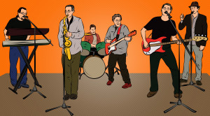 Pop art version of the popular San Diego party band.