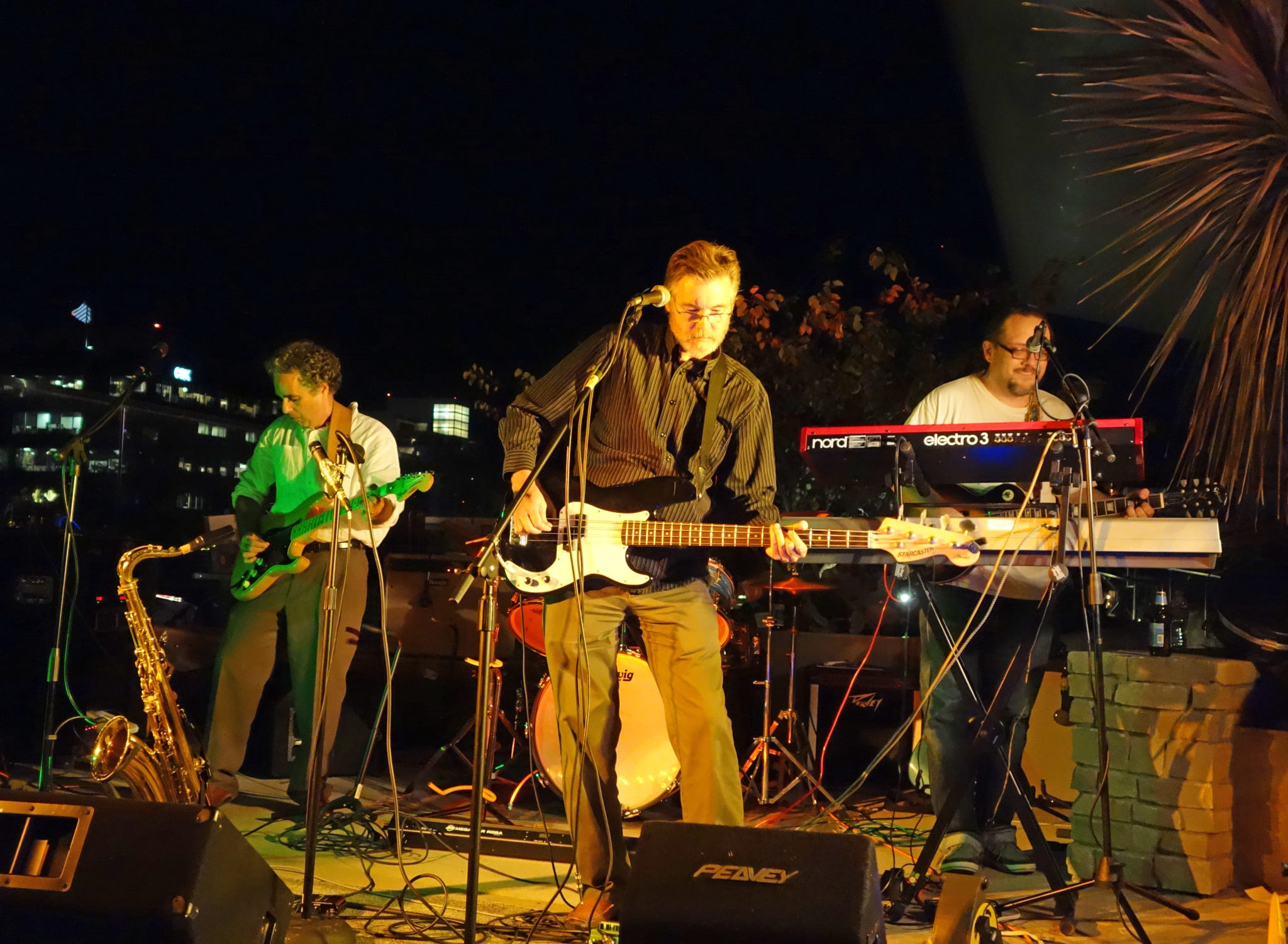 The Innocent Bystanders, a cover band, play live music in San Diego