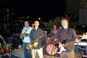 The Innocent Bystanders play live music in East Village, San Diego.