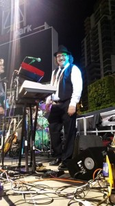 On stage at PetCo Park.