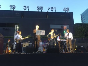 The Innocent Bystanders on Stage at Petco playing live music in downtown San Diego