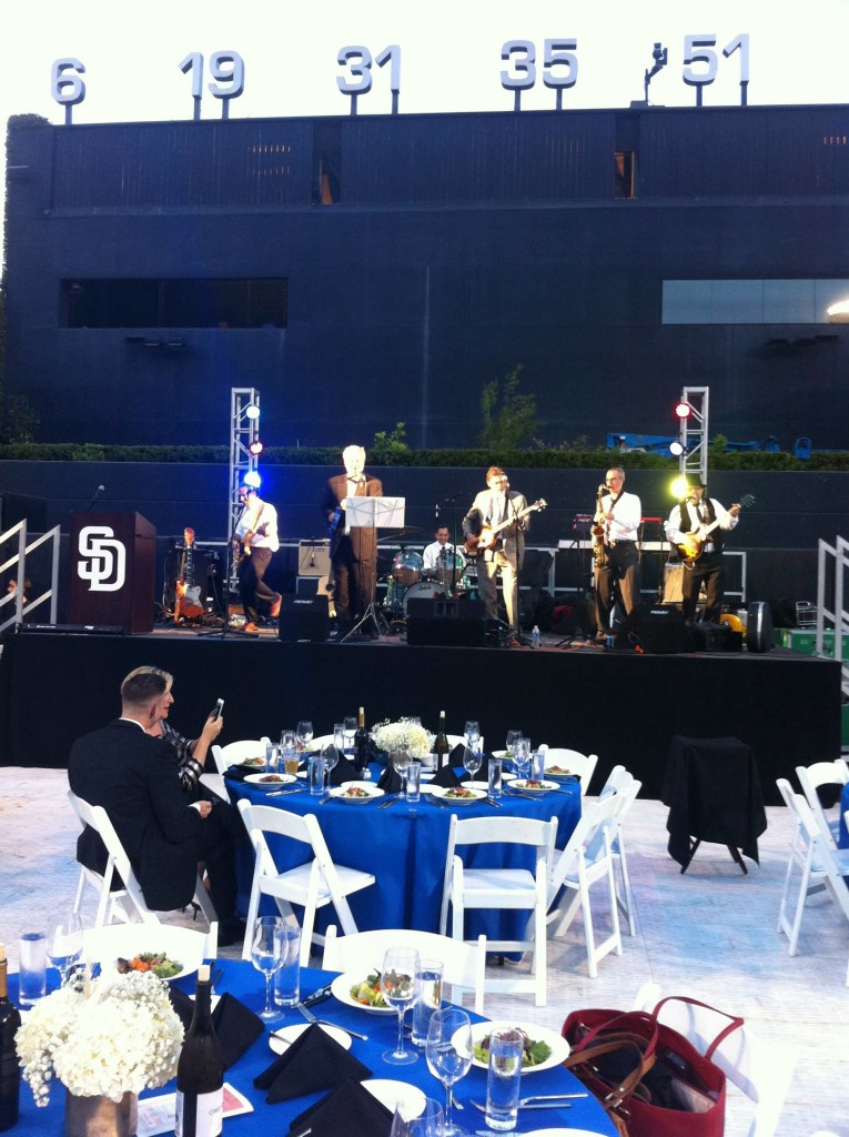 The Innocent Bystanders a San Diego party band played a corporate event at Petco Park