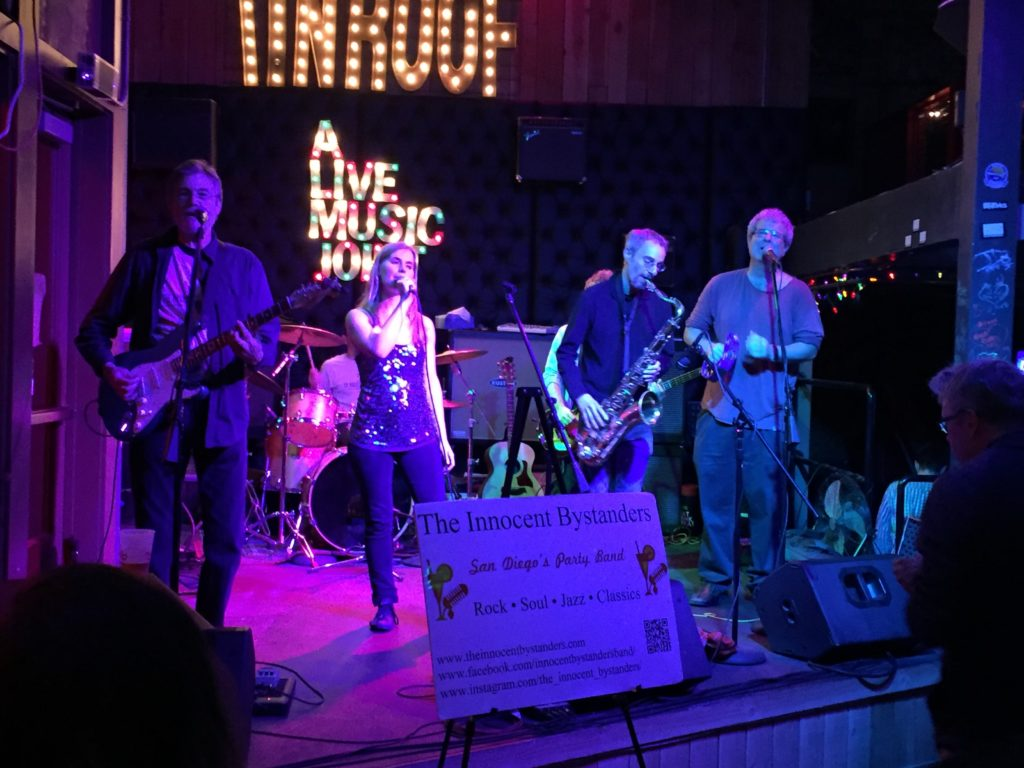 The Innocent Bystanders play live music in San Diego on stage at Tin Roof.